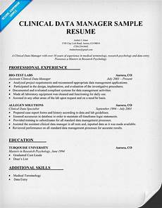 Clinical Data Manager Resumes Clinical Data Manager Resume Sample Http