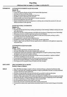 Auto Dealership Sales Manager Resume Automotive Sales Manager Resume Samples Velvet Jobs