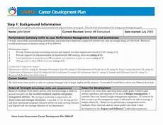 Career Development Goal Examples Career Development Plan Template Business