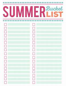 Bucket List Printable Template Our Summer Adventures Kayaks And Paddle Boards