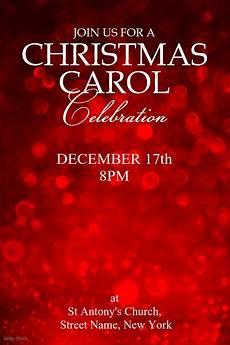 Christmas Carol Invitation Wording Christmas Carol Invite Template Postermywall