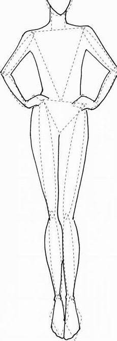 Body Templates For Designing Clothes Fleshing Out Templates 2 To Figure Illustration