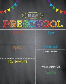 First Day Of Preschool Template First Day Of School Sign Chalkboard School Signfirst Day Of