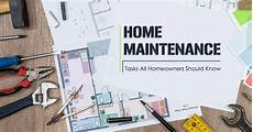 Home Maintence Home Maintenance Tasks All Homeowners Should Know
