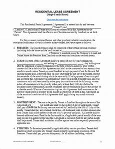 Downloadable Residential Lease Agreement Free Lease Agreement Template For Word