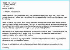 Immigration Letter Of Recommendation For Family What Is The Recommendation Letter For A Friend For