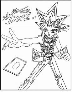 yu gi oh its time to duel coloring picture for