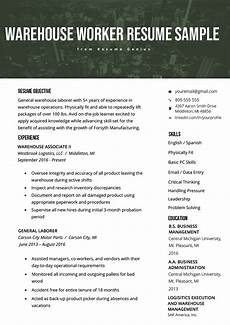 Acquired Skills Resume Warehouse Worker Resume Example Template Rg Job Resume