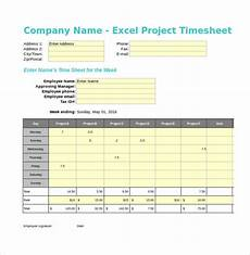 Free Excel Time Sheet Template 20 Project Timesheet Templates Amp Samples Doc Pdf