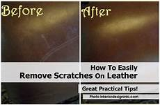 how to easily remove scratches on leather