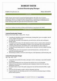 Housekeeping Aide Resume Assistant Housekeeping Manager Resume Samples Qwikresume