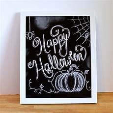 Cute Chalkboard Designs Happy Halloween Sign Halloween Chalkboard By Sugarbirdprints