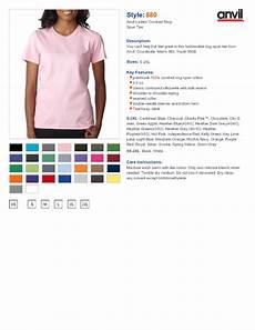 Anvil 980 Color Chart Anvil 880 Ladies Lightweight T Shirt 3 94 T Shirts