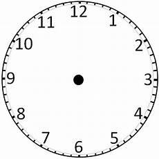 Clock Printout Blank Clockface Without Hands Clock Template Blank