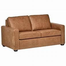 rivet modern classic top grain leather sofa