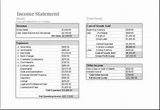 Income Expense Statement Template Income Statement Template For Ms Excel Microsoft Word