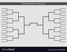 Tournament Table Template Tournament Bracket Championship Template Vector Image