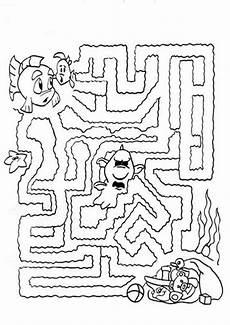 labyrinthe 5 ausmalbilder malvorlagen