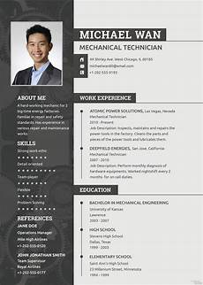 Download A Free Cv Template Free Mechanic Resume And Cv Template In Psd Template Net
