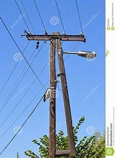 Light Pylon Electricity Pylon With Street Light Stock Photo Image