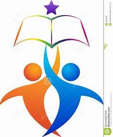 education logo stock vector illustration of beautiful
