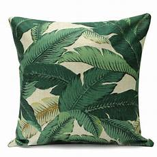 bluelans 174 green leaf cotton linen cushion cover throw