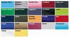 Port Company Color Chart Silk Screening T Shirts Stitch Logo Uniforms
