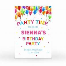 Second Birthday Party Invitations Multi Coloured Balloons Party Tableware Bundle 36 Pieces
