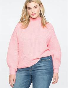 plus size sleeve tops sweaters puff sleeve sweater s plus size tops eloquii
