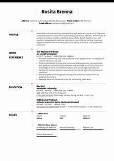 Sample Nurse Resume Icu Registered Nurse Resume Example Kickresume