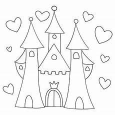 Ausmalbild Prinzessin Pferd Schloss Pin Marabu Creative Colours Auf Malvorlagen