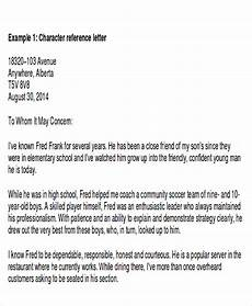 Character Letter Example Free 5 Sample Family Reference Letter Templates In Pdf