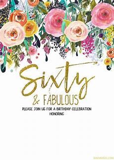 Free Printable 60th Birthday Invitations Templates Free Printable 60th Birthday Invitation Templates Free