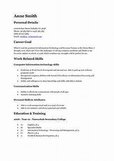 Resume Format For Teenagers How To Write Resume For Teenagers How To Write A Resume