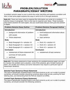Problem And Solution Essay Examples Problem Solution Essay Thesis Comparison