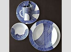 Wave Dinnerware Set   Contemporary   Dinnerware   by West Elm
