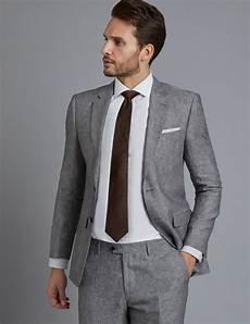 Light Grey Linen Suit Men S Grey Linen Slim Fit Suit Jacket Hawes Amp Curtis