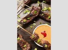 Beef Satay Skewers with Peanut Dipping Sauce   The Lemon Bowl®