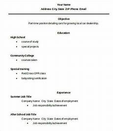 Resume Example For High School Graduate 10 High School Graduate Resume Templates Pdf Doc