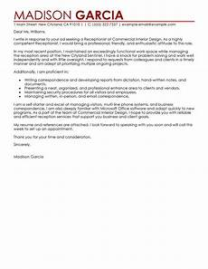 Receptionist Cover Letter With Experience Leading Professional Receptionist Cover Letter Examples
