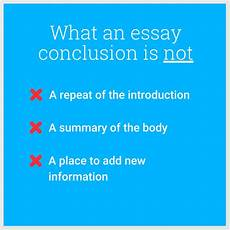 A Conclusion To An Essay How To Conclude Your Essay Well