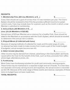 Club Budget Template 10 Club Budget Templates Pdf Free Amp Premium Templates