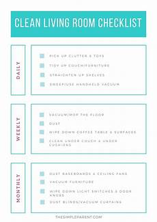 Cleaning Checklist By Room Living Room Cleaning Checklist Amp Easy Tips The Simple