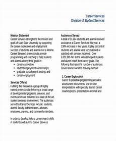 Career Portfolio Mission Statement Example Career Services Mission Statement