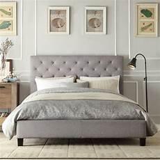 shop inspire q kingsbury grey linen tufted king sized