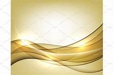 Background Leaflet Design Gold Vector Template Abstract Background With Lines