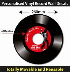 Vinyl Record Condition Chart Personalised Vinyl Record Wall Sticker Totally Movable
