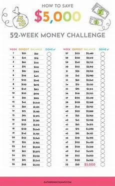 How To Save 5000 In 6 Months Chart Use This Chart To Save 1 000 This Year Money Saving