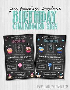Birthday Sign Template Birthday Chalkboard Sign Template And Tutorial