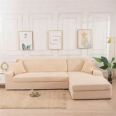 beige stretch elastic sofa cover solid non slip soft
